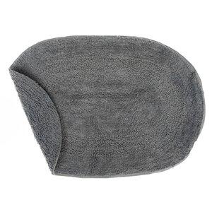 Tapis de bain ovales gris réversibles en coton de 16 po x 24 po par IH Casa Decor - ens. de 2