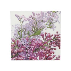 IH CASADECOR 20 Pack Luncheon 3 Ply Napkin (lilacs) - Set of 6
