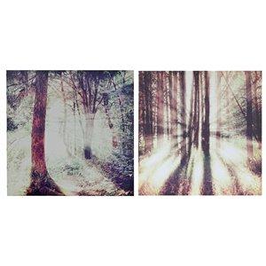 Tableaux imprimés au crépuscule ou à l'aube de 19,7 po h. x 19,7 po l. par IH Casa Decor, ens. de 2