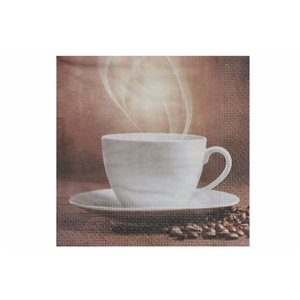 IH CASADECOR 20 Pack 3 Ply Cocktail Napkin (steaming Coffee) - Set of 6