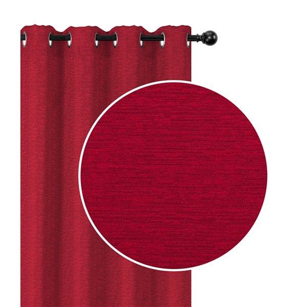 Panneaux de rideau rouge de 54 po x 84 po occultants sans fil par IH Casa Decor, ens. de 2