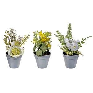 Pot de succulentes artificiel 3,15 po x 7 po de IH CASADECOR