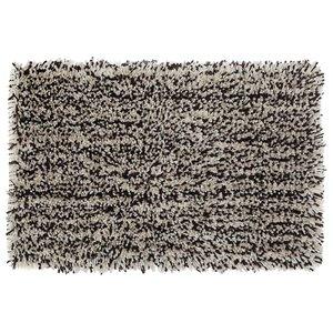 Tapis de bain en microfibre à poils longs brun et beige de 20 po x 32 po par IH Casa Decor