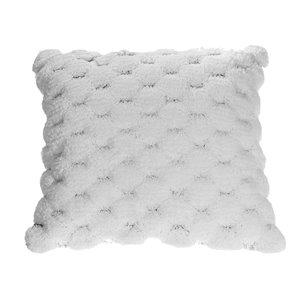 IH Casa Decor 18-in W x 18-in L Square White Pompoms Decorative Pillows - 2-Piece