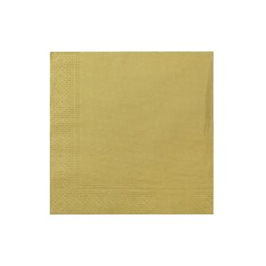 Paquet de 20 serviettes de table à 3 épaisseurs de IH CASADECOR (gold) - Ensemble de 6