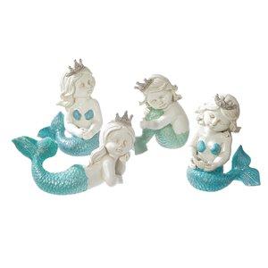 Figurine de sirène en polyrésine par IH Casa Decor, 8 po