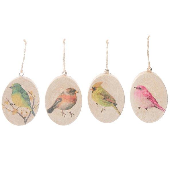 Ornaments en bois par IH Casa Decor, ens. de 4