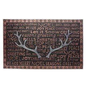 IH Casa Decor 32-in x 18-in Brown Rectangular Rubber Door mat