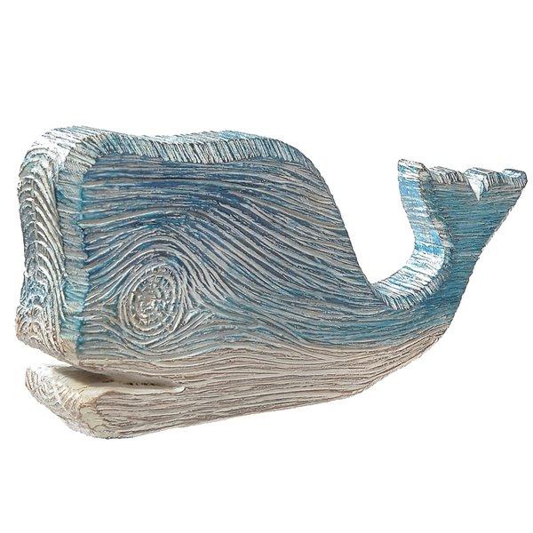 Sculpture en forme de baleine bleue par IH Casa Decor, polyrésine, 4 po