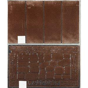 IH Casa Decor Brick 30-in x 18-in Brown Rectangular Rubber Door mat