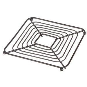 Dessous de plat carré en métal noir de IH CASADECOR