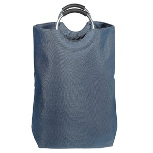 Panier à linge d'IH CASADECOR, matériaux mixtes, bleu, 26 po X 23 po X 7,5 po