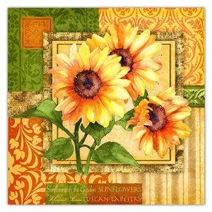 IH CASADECOR 20 Pack Luncheon 3 Ply Napkin (triple Sunflower) - Set of 6