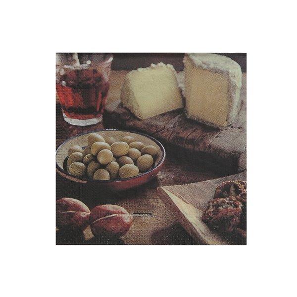 Paquet de 20 serviettes de table à 3 épaisseurs de IH CASADECOR (olive & Fromage) - Ensemble de 6