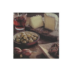 IH CASADECOR 20 Pack 3 Ply Cocktail Napkin (olive & Cheese) - Set of 6