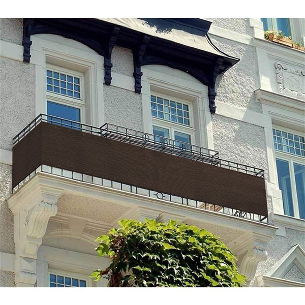 Toile d'intimité brune pour balcon par IH Casa Decor