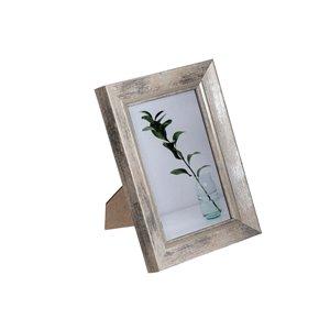 Cadre photo Finley taupe ( 4 po x 6 po ) par IH Casa Decor, paquet de 2