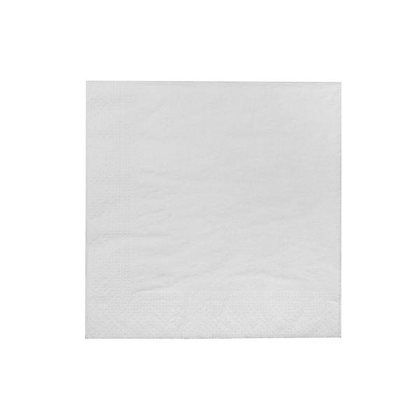Paquet de 20 serviettes de table à 3 épaisseurs de IH CASADECOR (blanc) - Ensemble de 6