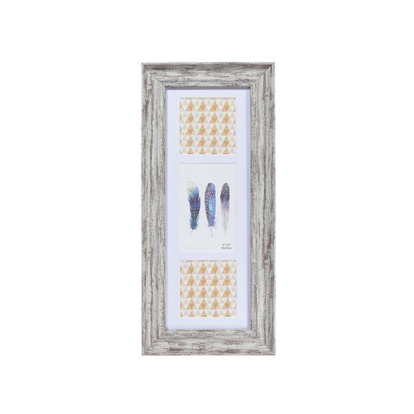 Cadre photo Artisan gris ( 4 po x 6 po ) par IH Casa Decor