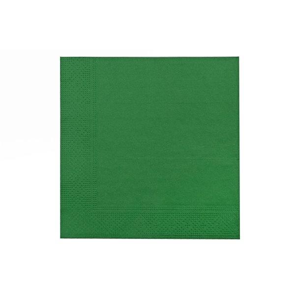 Paquet de 20 serviettes de table à 3 épaisseurs de IH CASADECOR (vert) - Ensemble de 6