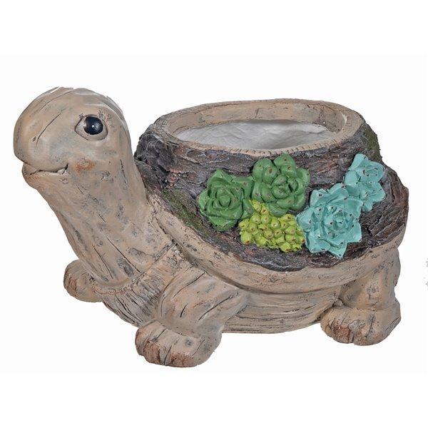 Figurine de jardin en forme de tortue par IH Casa Decor, MgO, 7,5 po