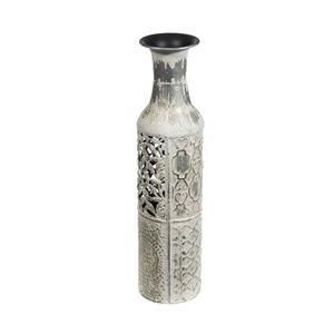 Vase en métal de jonction par IH Casa Decor, 18 po