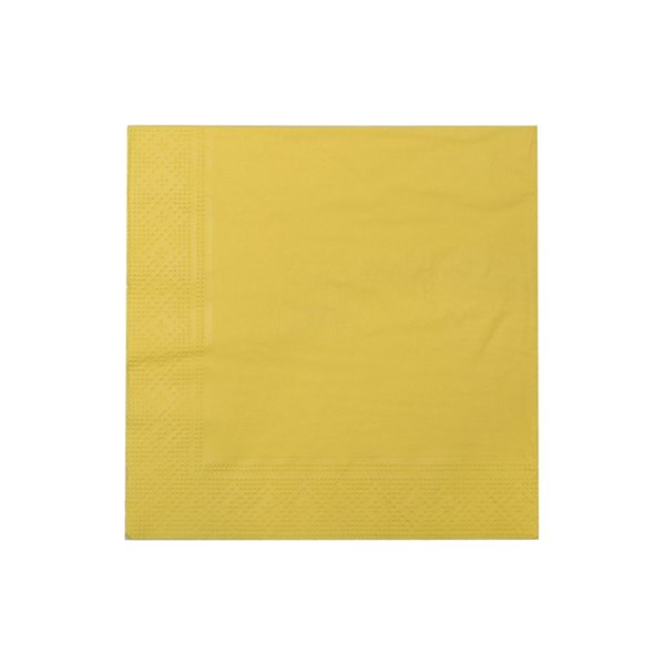 Paquet de 20 serviettes de table à 3 épaisseurs de IH CASADECOR (jaune) - Ensemble de 6