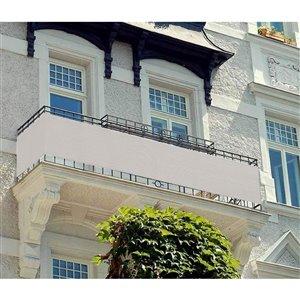 Toile d'intimité blanche pour balcon par IH Casa Decor