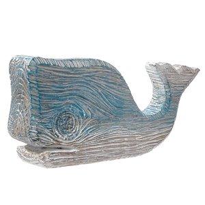 Sculpture en forme de baleine bleue par IH Casa Decor, polyrésine, 1,3 po