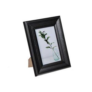 Cadre photo Onyx noir ( 4 po x 6 po ) par IH Casa Decor, paquet de 2