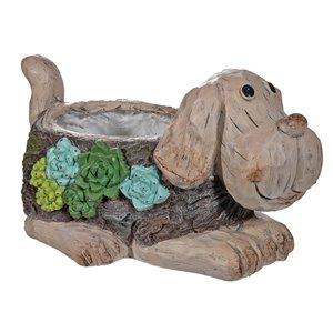 Jardinière décorative en forme de chien par IH Casa Decor, MgO, 6,3 po