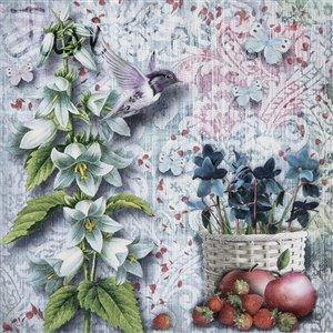 IH CASADECOR 20 Pack Luncheon 3 Ply Napkin (floral Hummingbird) - Set of 6