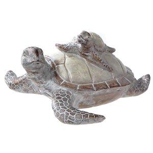 Figurine de tortue de mer superposée en polyrésine par IH Casa Decor, 7,15 po