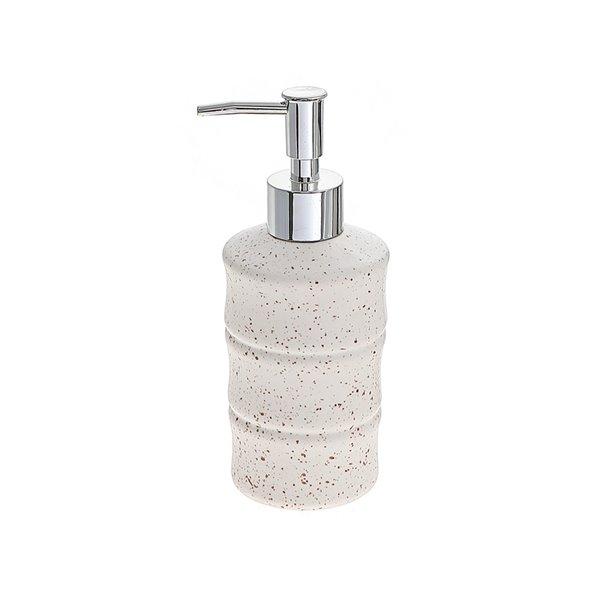 Distributeur de savon en grès blanc par IH Casa Decor