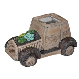Jardinière décorative en forme de camion par IH Casa Decor, MgO, 6,3 po
