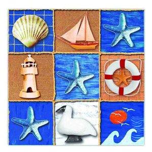 Paquet de 20 serviettes de table à 3 épaisseurs de IH CASADECOR  (nautique) - Ensemble de 6