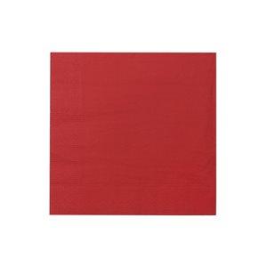 Paquet de 20 serviettes de table à 3 épaisseurs de IH CASADECOR (rouge) - Ensemble de 6