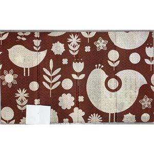 IH Casa Decor Spring Bird 30-in x 18-in Brown Rectangular Rubber Door mat