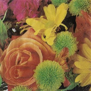 IH CASADECOR 20 Pack Luncheon 3 Ply Napkin (yellow Rose) - Set of 6