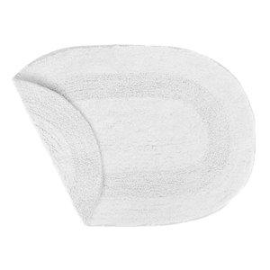 Tapis de bain ovales blancs réversibles en coton de 16 po x 24 po par IH Casa Decor - ens. de 2