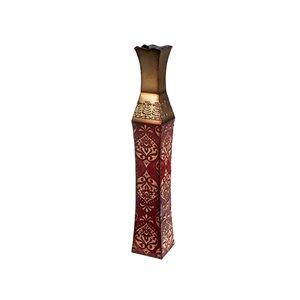 Vase en métal dynastie par IH Casa Decor, 32 po