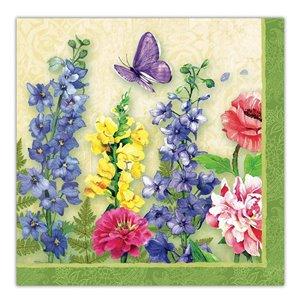 Paquet de 20 serviettes de table à 3 épaisseurs de IH CASADECOR  (jardin de papillons) - Ensemble de 6