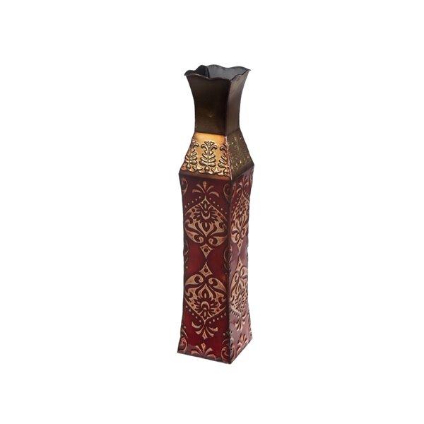 Vase en métal dynastie par IH Casa Decor, 24 po