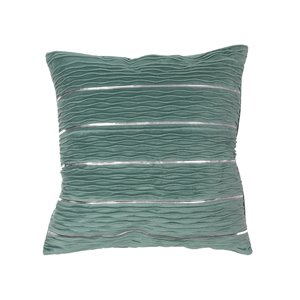 IH Casa Decor 18-in W x 18-in L Square Decorative Pillows with Linear Pattern - 2-Piece
