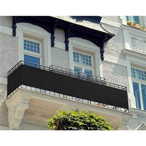 Toile d'intimité noire pour balcon par IH Casa Decor