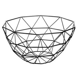 Panier à fruits noir en métal par IH Casa Decor