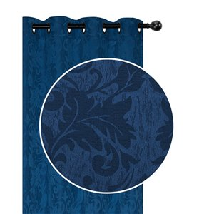 Panneaux de rideau bleu de 54 po x 84 po assombrissants sans fil par IH Casa Decor, ens. de 2