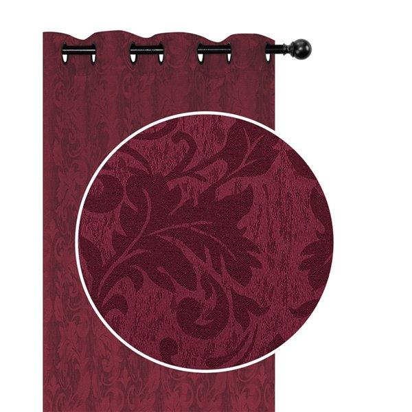 Panneaux de rideau rouge de 54 po x 84 po assombrissants sans fil par IH Casa Decor, ens. de 2