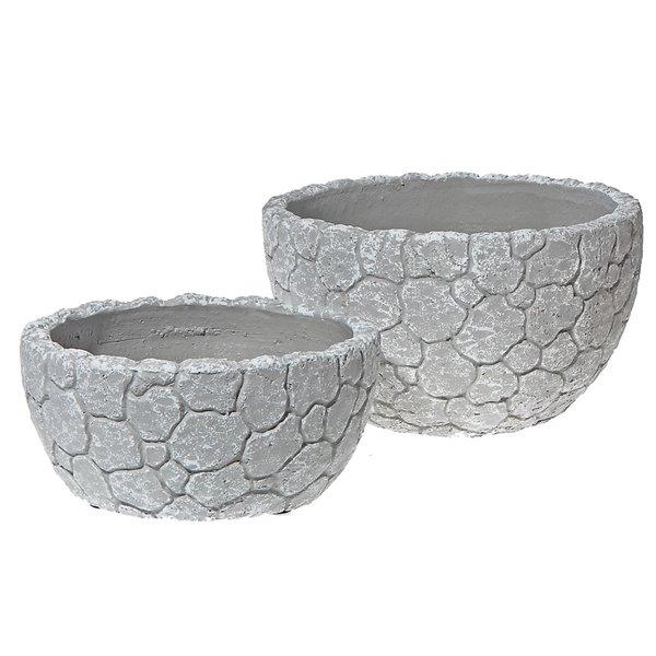 Pot de fleurs en forme de bol, 2 pièces, céramique, 8 po x 3,7 po de IH CASADECOR
