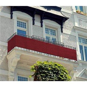 Toile d'intimité rouge pour balcon par IH Casa Decor